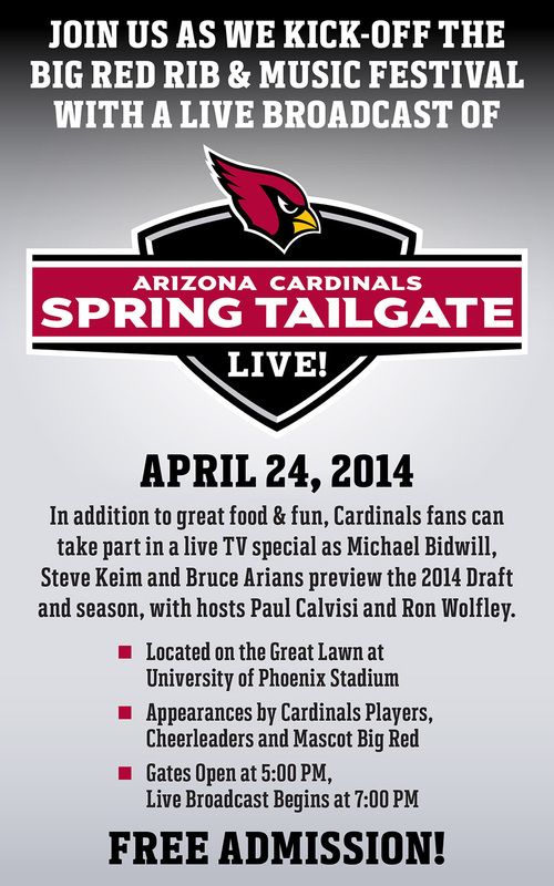 Arizona Cardinals Spring Tailgate
